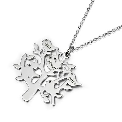 Amarley  Personalized Engravable Tree Shape Necklace