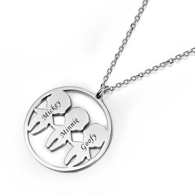 Amarley Personalized Engravable Mother's Necklace With Kids Charm