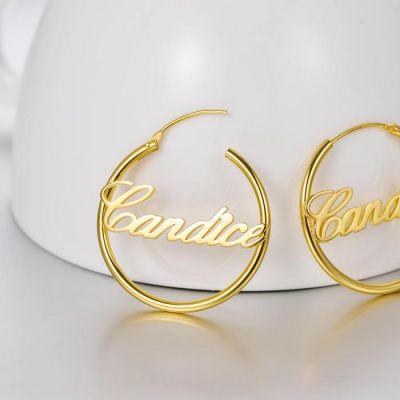 Personalized Script Name Hoop Earrings