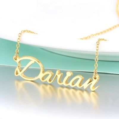 "Darian - Custom Name Necklace Adjustable 16""-20"""