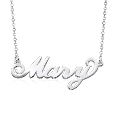 """Mary - 925 Sterling Silver Personalized Name Necklace Adjustable 16""""-20"""""""