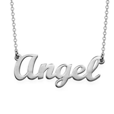 "Angel - Personalized Classic Name Necklaces Adjustable Chain 16""-20"""
