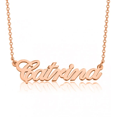 """Catrina - 925 Sterling Silver Personalized Classic Name Necklace Adjustable Chain 16""""-20"""