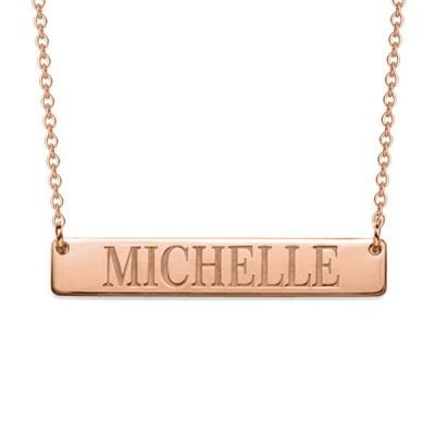"Personalized Bar Necklace Adjustable 16""-20"""