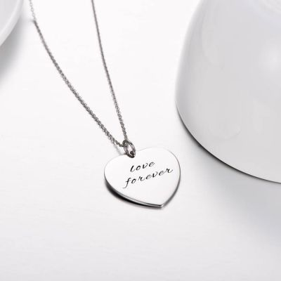 """Forever In My Heart - Copper/925 Sterling Silver Personalized Love Heart Necklace Adjustable 16""""-20"""""""