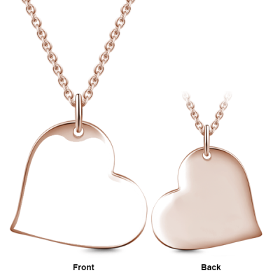 """Sealed With A Kiss - Love Heart Personalized Engraved Photo Necklace Adjustable 16""""-20"""""""