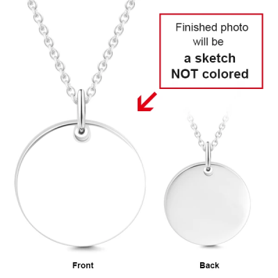 """Personalized Engravable Photo Hang Tag Necklace Adjustable 16""""-20"""""""