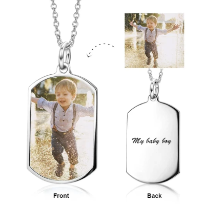"Copper/925 Sterling Silver Personalized Color Photo Personalized - Adjustable 16""-20"""
