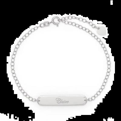 "Personalized Engravable Name Bar Anklet Length Adjustable 8.5""-10"""