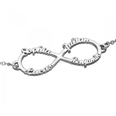 Personalized Infinity up to 4 Names Bracelet