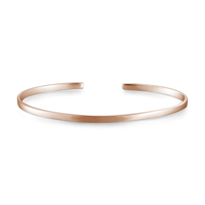 925 Sterling Silver Personalized Engravable Bangle -Small