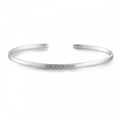 Personalized Engravable Bangle -Small