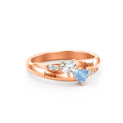 Personalized Engraved Birthstone Ring