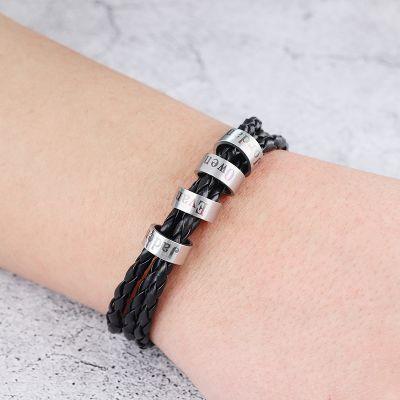 Personalized Uppercase Name Bracelet