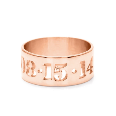 Personalized Date Cut Out Ring