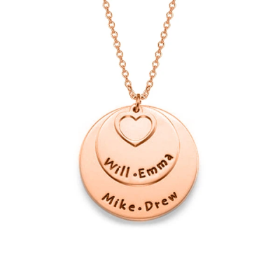 "You and Me - Personalized Engravable Necklace Adjustable 16""-20"""