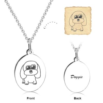 """Love Sweet Love - Personalized Engraved Art Necklace Adjustable 16""""-20"""""""