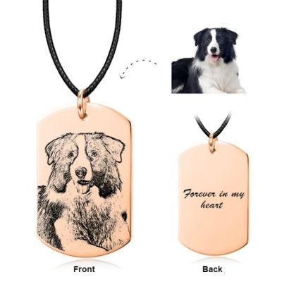 Personalized Pet Engraved Photo Necklace