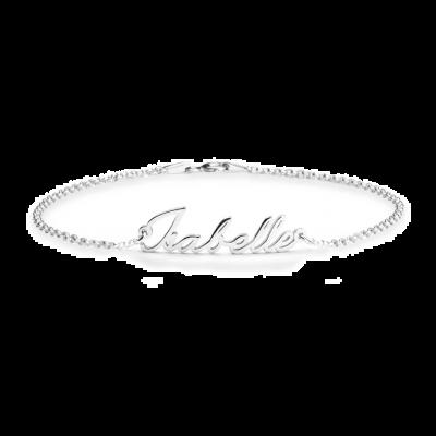"925 Sterling Silver Personalized Dainty Name Bracelet Length Adjustable 6""-7.5"""