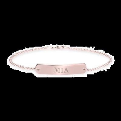 "925 Sterling Silver Personalized Classic Name Bar Bracelet Length Adjustable 6""-7.5"""