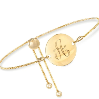 Personalized Disc Engraved Bracelet