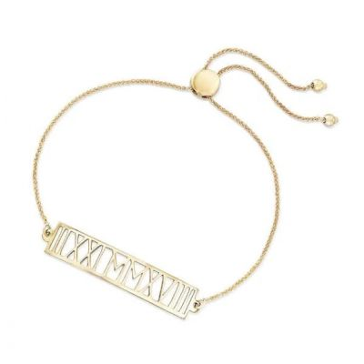 """925 Sterling Silver Personalized Roman Numeral Date Bracelet Length Adjustable 6""""-7.5"""""""