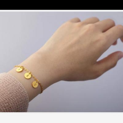 "925 Sterling Silver Personalized Initial Engraved Bracelet Adjustable 6""-7.5"""