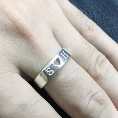 Personalized Engraved Promise Ring