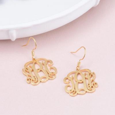 Personalized Monogram Earrings