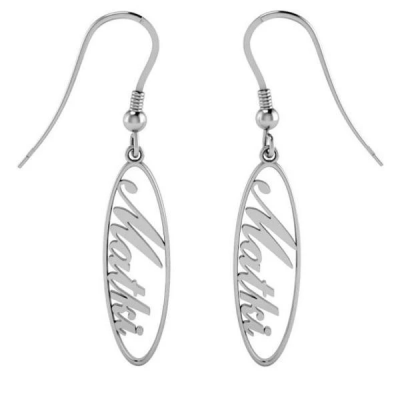 Personalized Drop Name Earrings