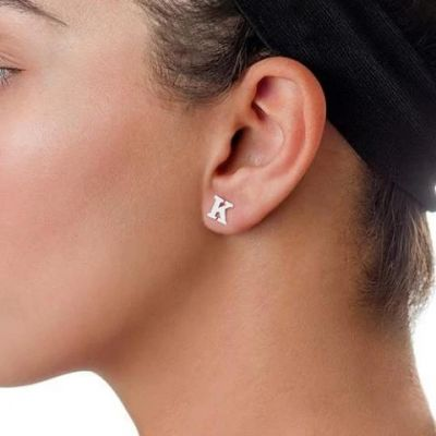 Personalized Initial Stud Earrings