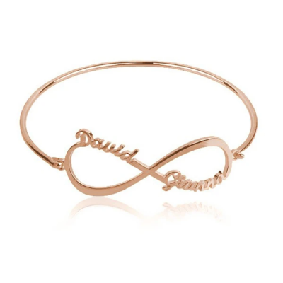 Personalized Infinity 2 Names Bangle