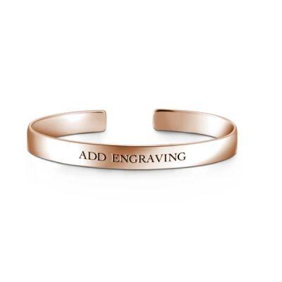 10K Gold Personalized Engravable Bangle-Medium
