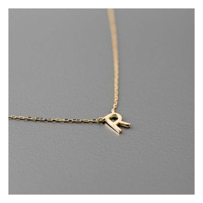 Personalized Single Initial Necklace With Your Choice of Letter Adjustable Chain 16