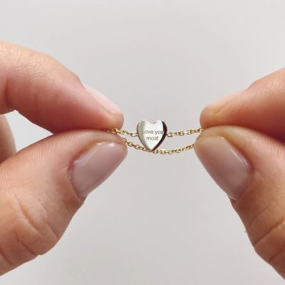 Personalized Engraving Ring Mini Heart