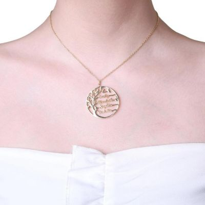 """Personalized Name Necklace Tree of Life Adjustable 16""""-20"""""""