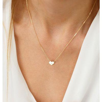 "Custom Heart Engraved Necklace Adjustable 16""-20"""