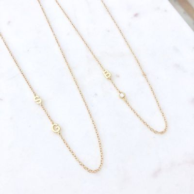 """Personalized Custom Initial Necklace Adjustable 16""""-20"""""""