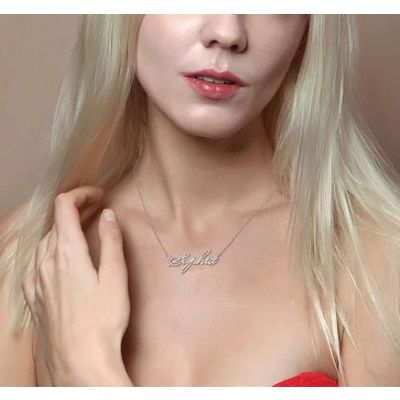"Sophia - Personalized Name Necklace Adjustable 16""-20"""