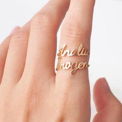 Custom Layered Name Ring