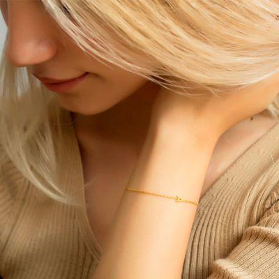 """Personalized Letter Bracelet Length Adjustable 6""""-7.5"""""""