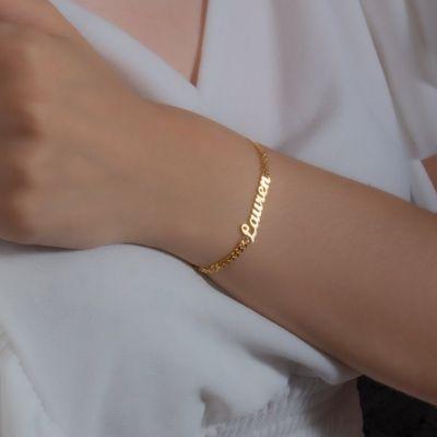 "Custom Name Bracelet Length Adjustable 6""-7.5"""