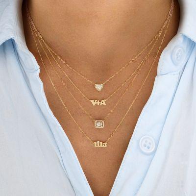 "Diamond Heart Necklace Adjustable 16""-20"""