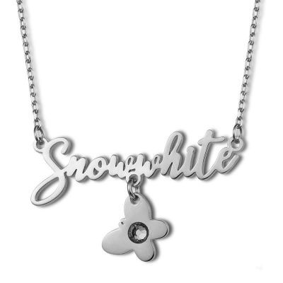 """Custom Name Necklace with Birthstone & Butterfly Adjustable 16""""-20"""""""