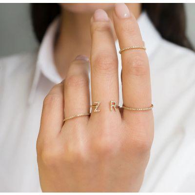 Custom Diamond Letter Ring