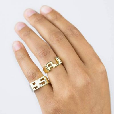 Custom Double Pinky Year Ring