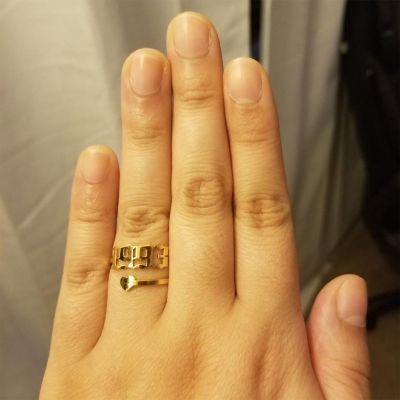 Custom Year Ring with Heart