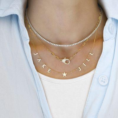 Stunning Diamond Tennis Necklace