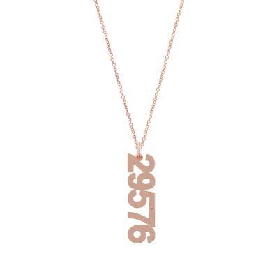 Custom Zip Code Charm Necklace Adjustable 16