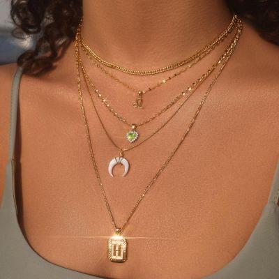 "Custom Letter Pendant Necklace Adjustable 16""-20"""